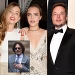 Amber Heard & Cara Delevingne / Johnny Depp / Elon Musk