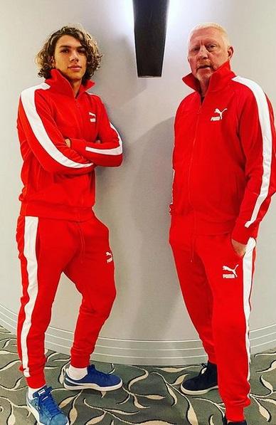 Elias (22) & Boris Becker